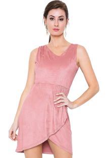 e5624a52a ... Vestido Estilo Boutique Camurça Suede Lara Rosa