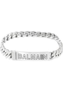 Balmain Choker Com Logo - Metálico