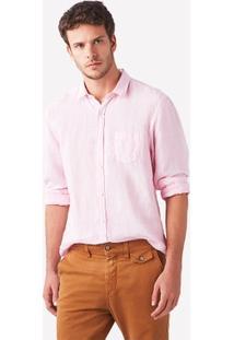 Camisa Foxton Ml Linho Paraiso Masculina - Masculino