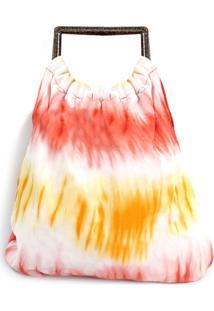 Bolsa Diana Dali Shoes Tecido Tye Dye Vermelho - Tricae