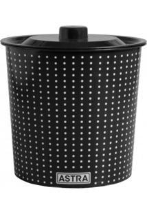 Lixeira Para Cozinha 3,2 Litros Com Tampa Astra Preto/Branco
