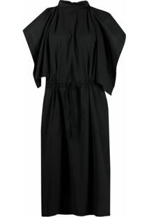 Lemaire Vestido Midi Sem Mangas Com Sobreposição - Preto