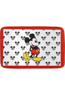 Tapete De Banho Vintage Mickeyâ®- Branco & Vermelho- Mabruk