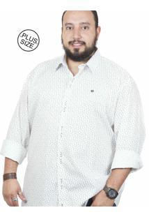 Camisa Plus Size Bigshirts Manga Longa Galho