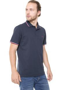Camisa Polo John John Reta Lines Azul-Marinho