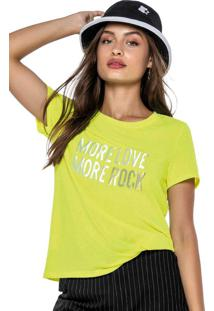 Blusa Amarela Em Botonê Neon