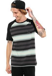 Camiseta Mcd Listrada Preta/Verde