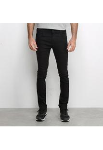 Calça Jeans Sawary Comfort Masculina - Masculino-Preto
