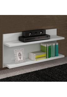 Prateleira 90 Cm Com Fixação Invisível Pr 004 Branco - Completa Móveis