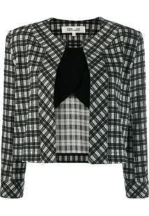 Diane Von Furstenberg Lucia Check Jacket - Preto