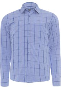 Camisa Masculina Slim - Azul