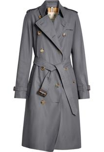 Burberry Trench Coat The Long Kensington Heritage - Cinza