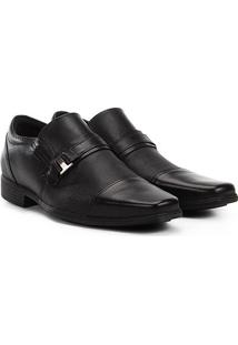 Sapato Social West Coast Zurique Fivela Masculino - Masculino-Preto