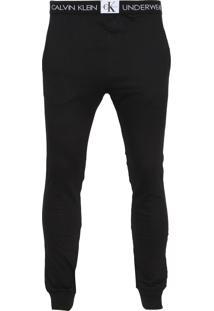 ... Calça Moletom Calvin Klein Underwear Jogger Logo Preta 85c3a11f3b