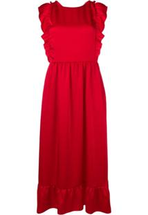 Red Valentino Vestido Com Alças Posteriores Cruzadas - Vermelho