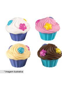 Jogo De Cupcakes Para Banho- Azul & Rosa- 4Pçs- Munchkin