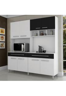 Cozinha Paris 8 Portas Branco/Preto - Fama Móveis