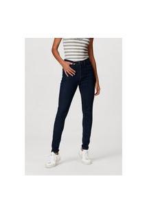 Calça Hering Jeans Super Skinny Com Elastano Azul