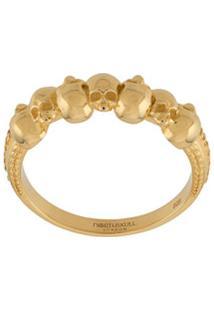 Northskull Anel Septem Com Detalhe De Caveiras - Dourado