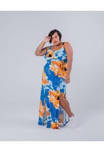 Vestido Longo Almaria Plus Size Miss Taylor Estamp