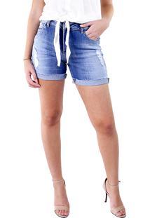 Bermuda Multi Ponto Denim Com Lycra Jeans