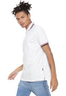 Camisa Polo Manga Curta Cavalera Bordado Branca