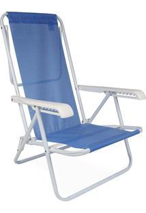Cadeira Reclinável Aço 8 Posições Azul