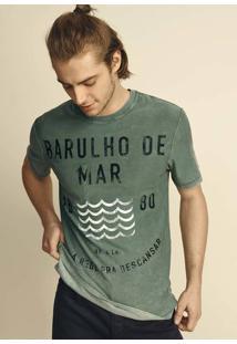 Camiseta Em Malha De Algodão Dupla Face Com Lavanderia Premium 3e160a103fd25