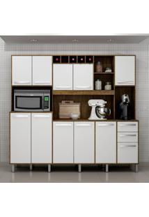 Cozinha Compacta Petra 11 Pt 2 Gv Ipê E Branca