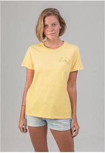 Camiseta Borderless Summer Melty - Feminino-Amarelo