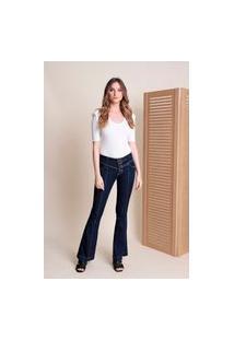 Calça Jeans Botões Pespontos