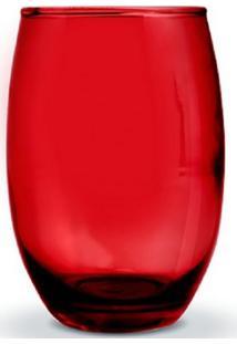 Conjunto De Copos Bellagio Vermelho 450Ml 6 Peças Casa Linda