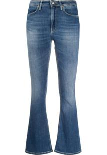 Dondup Calça Jeans Flare Cropped - Azul