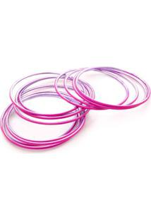 Pulseira Mariana Cor: Rosa Pink - Tamanho: Único