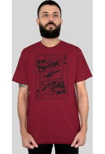 Camiseta Bleed American Death Card Vinho