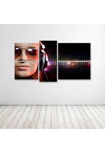 Quadro Decorativo - Woman Music - Composto De 5 Quadros - Multicolorido - Dafiti