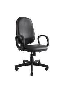 Cadeira Presidente Don. Couro Ecológico. Encosto Alto. Mecanismo Função Relax. Ajuste A Gás Da Altura Do Assento. Apoio Para Braços. Rodízios Duplos. Prolabore Produtos Ergonômicos