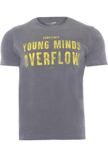 Camiseta Masculina Vintage Young Minds - Cinza
