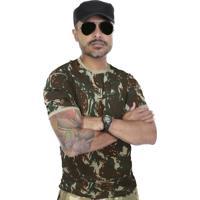 cdb0634b6d Camiseta Team Six Militar Camuflada Reforçada Verde