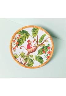 Prato De Sobremesa Chimp Cor: Multicolorido - Tamanho: Único
