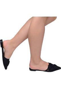Sapato Feminino Mule Bico Fino Santa Lolla Preto