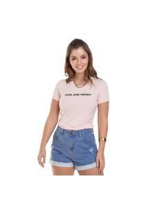 Blusa Feminina Trendy Mescla (50000) G Rosa