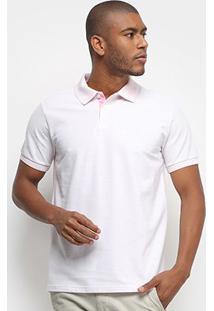 Camisa Polo Aleatory Basic Color Masculina - Masculino-Rosa