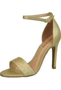 Sandália Spossi Glitter Glamour Dourado
