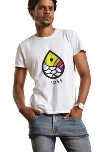 Camiseta Masculina Joss Gota Colors Branco