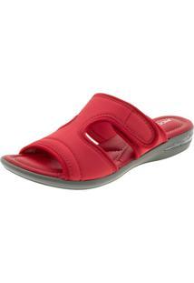 Sandália Feminina Salto Baixo Vermelha Piccadilly - 517014