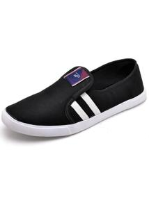 Tênis Casual Slip On Gts Preto