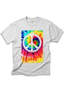 Camiseta Hippie Cool Tees Tie Dye Simbolo Da Paz - Masculino