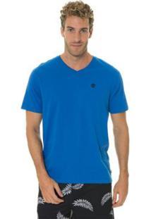 Camiseta Timberland Dunstan River V Neck Masculina - Masculino-Azul