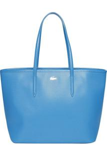 Bolsa Texturizada Em Couro- Azul Claro- 28X44X16Cmlacoste